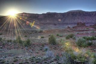 Sun rays over Moab