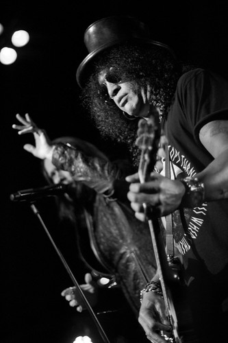 Slash on stage at Ram's Head Live with Myles Kennedy