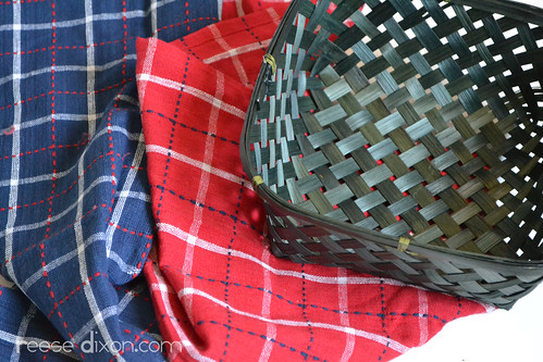 4th of July Bread Basket Tutorial Step 1