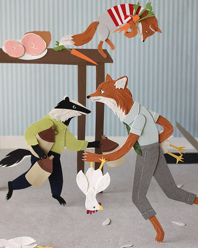 Paper Cutting of Fantastic Mr. Fox