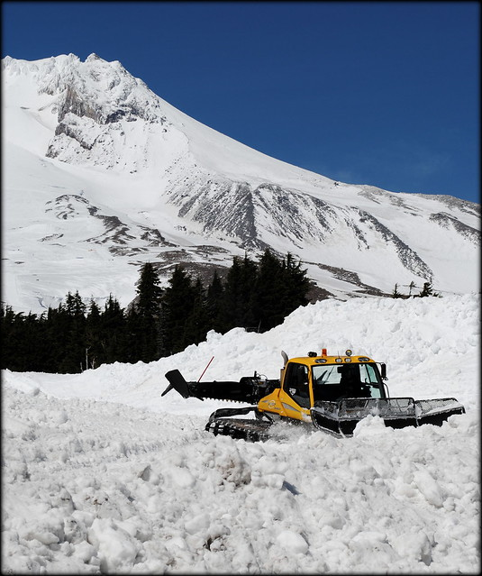 Snow plow in June at Timberline Lodge - Mt. Hood