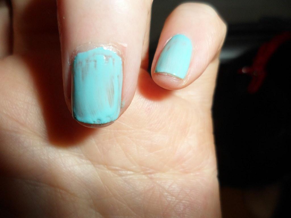 Wet n Wild Mint Nail Polish I Need A Refresh /  218A  1 coat close-up