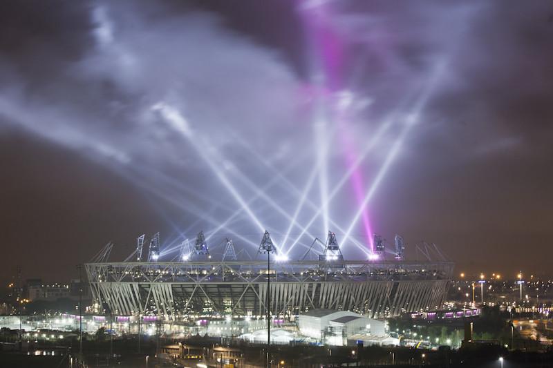 London Olympic Stadium 2012 lights