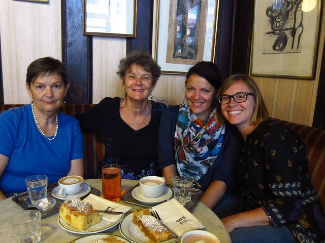 Tante Senta, My Mom, My Cousin Sara and Me at Cafe Leopold Havelka
