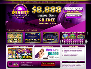 Desert Nights Casino Home