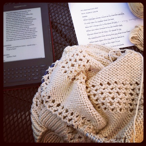 Knitting while reading!