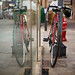Reflected bike.
