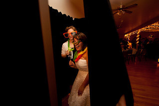 Bride in Photobooth