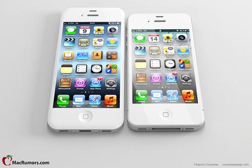 iPhone5予想画像-iPhone4Sと比較