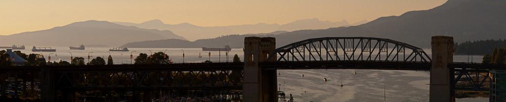 Vancouver English Bay Panorama 2012