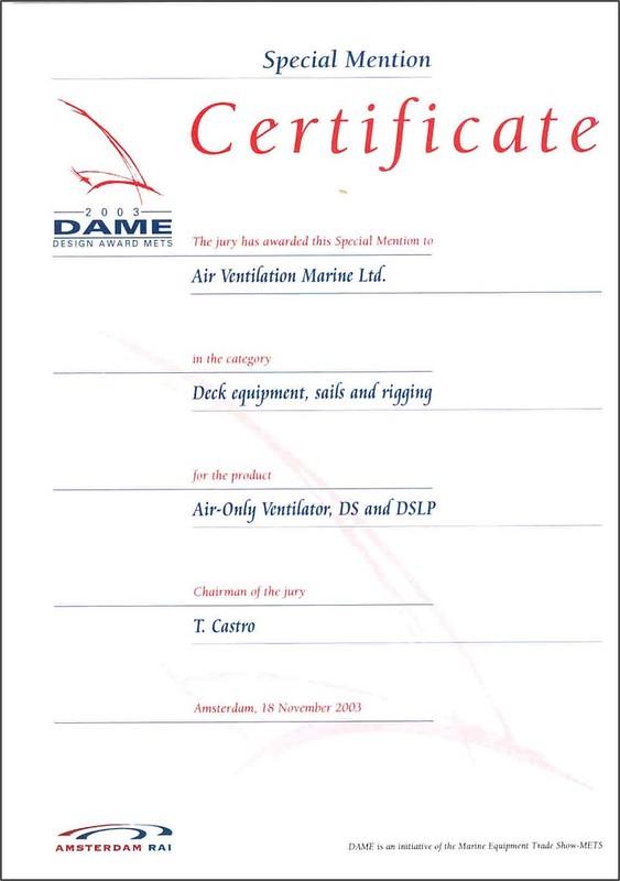 DAME_Certificate