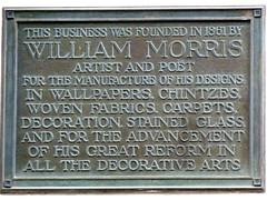 Photo of William Morris bronze plaque