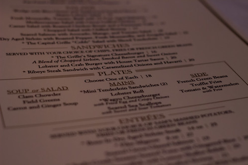 Summer Plates Lunch Menu at The Capital Grille