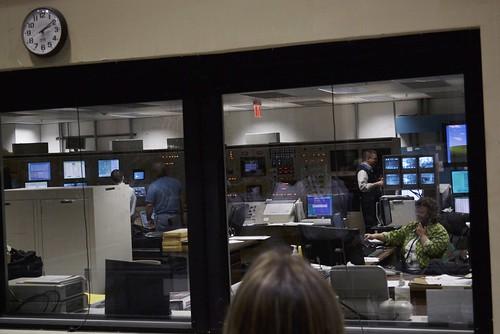 Wind tunnel control room