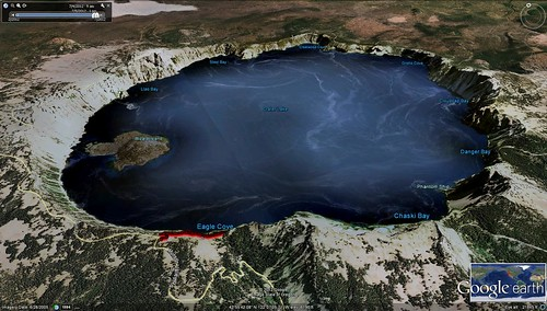 Google Earth:  Crater Lake