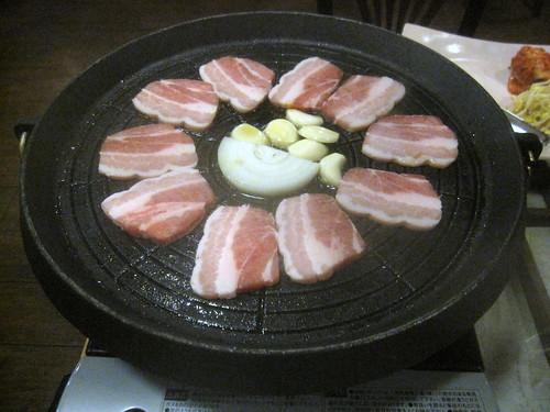 豚バラセット焼き前@かたくり(練馬)