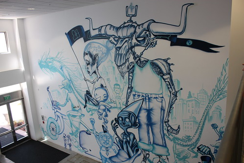 Inside the walls of facebook headquarters palo alto the for David choe mural