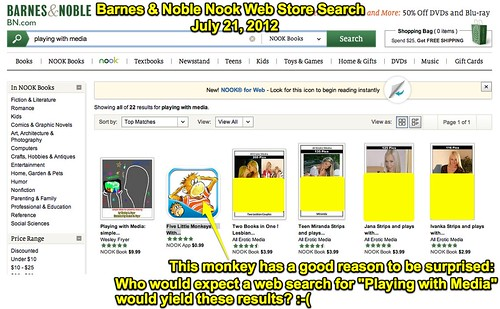 BARNES & NOBLE Nook eBook Store Web Search - Objectionable Content