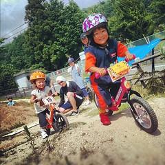 今日は偶然にも2組のストライダー親子が!聞く所によると松山にもチームがあるそーな。#bmx #trails #strides