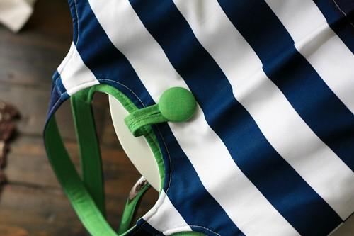 striped tote