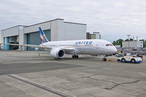 United's First 787 Rolls out of Paint Hangar by The Boeing Company