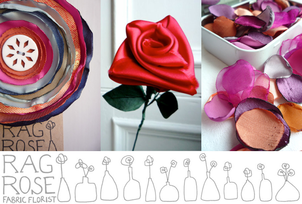 Rag Rose fabric florist | Emma Lamb