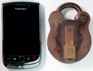 RIM BlackBerry with Padlock