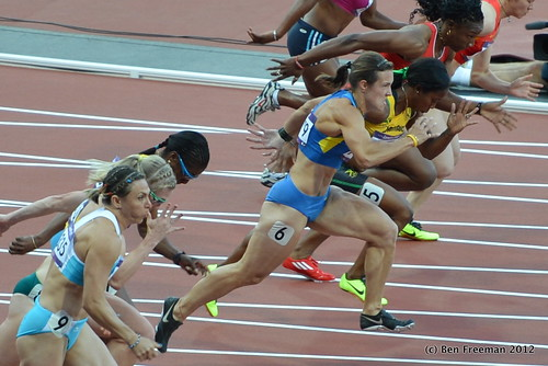 Women's 100m heats, London Olympics 2012
