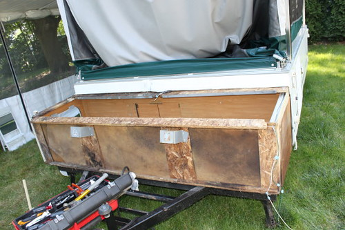 Cutting The Cargo Box Off A Coleman Laramie To Install A
