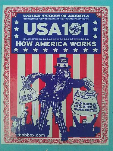USA 101 HOW AMERIA WORKS STICKER toobbox.com by GCRad1