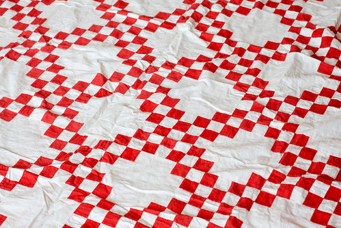 Vintage Red + White Quilt Top by Jeni Baker