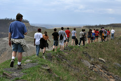 Kayford, W.Va.—Students from neighboring Maryland visited mountaintop removal sites during a service trip that included community gardening and flood cleanup. Both of AFSC's West Virginia programs gave lessons on economic justice in the state.