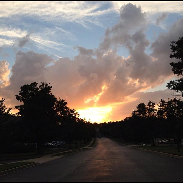 Also loving tonight's sunset!
