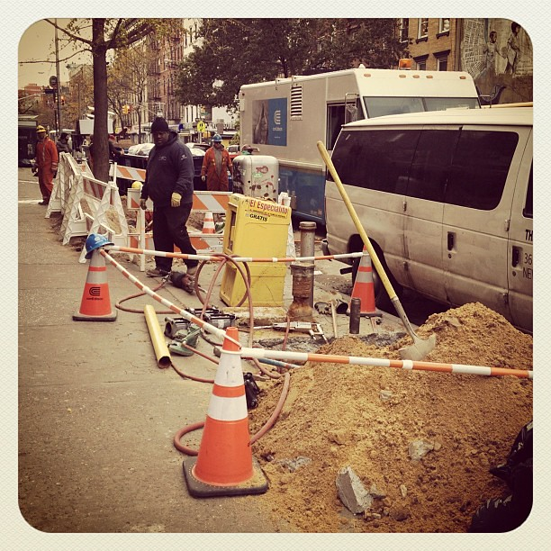 ConEd still hard at work on 8th St and Ave C #alphabetcity #nyc