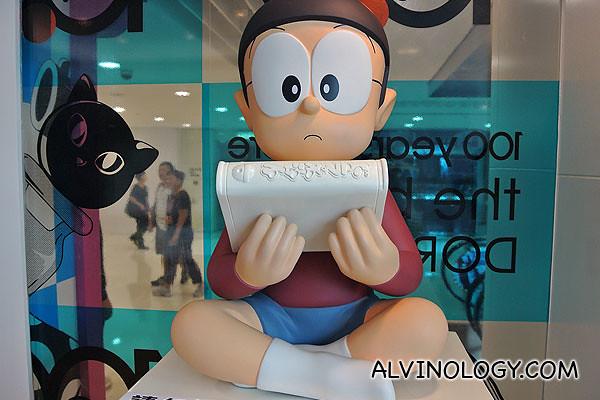 Nobita reading