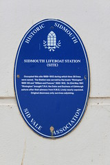 Photo of Lifeboat Station, Sidmouth blue plaque