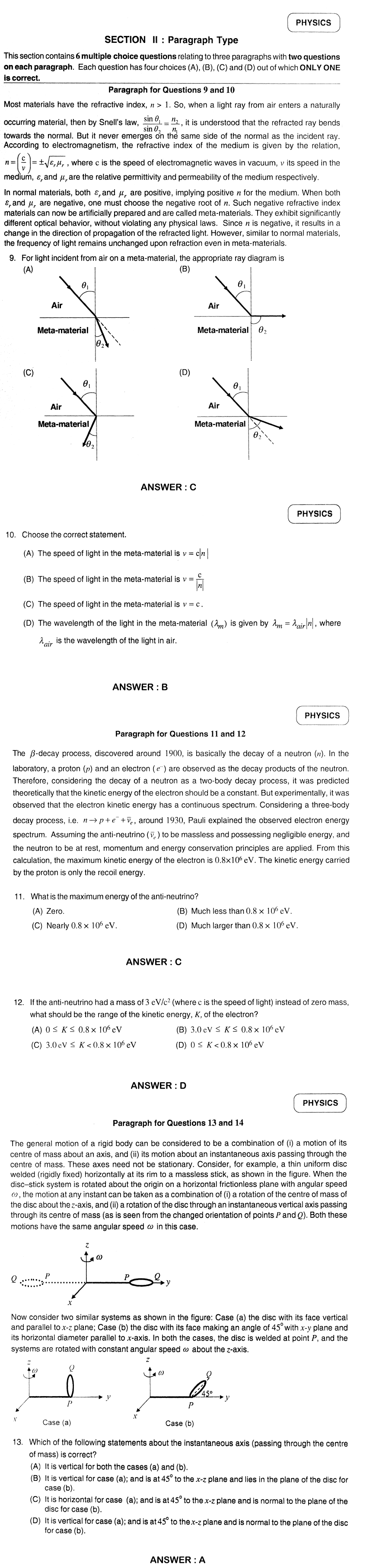 IIT JEE 2012 Question Papers & Answers   Paper 2 in jee advanced  Category
