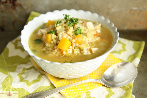 Turkey, Leek and Butternut Squash Noodle Soup