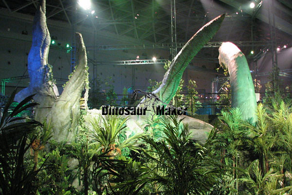 Jurassic Style Animatronic Dinosaur decorated Theme Park