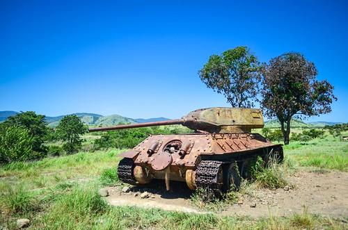 Réservoirs en campagne angolaise