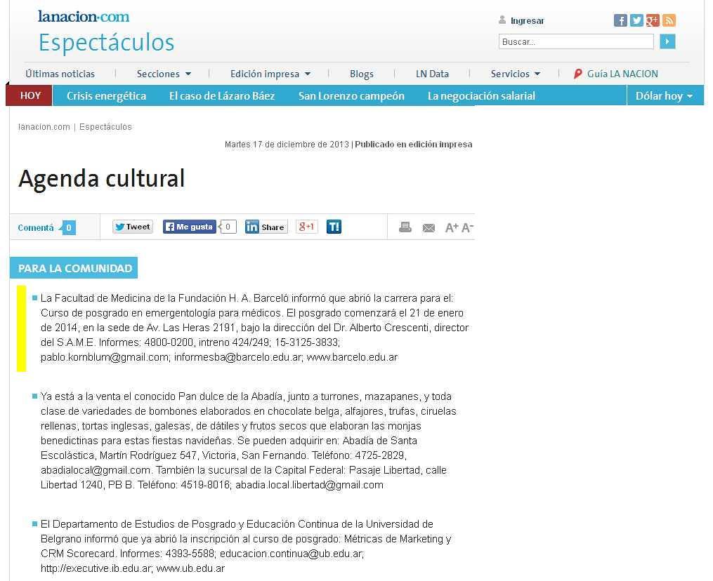Site Diario La Nación 17-12-13