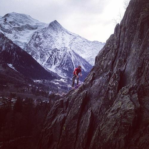 Climbing at #lesgaillands #chamonix