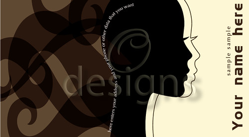 Digital Business Calling Card Hair Template No 3