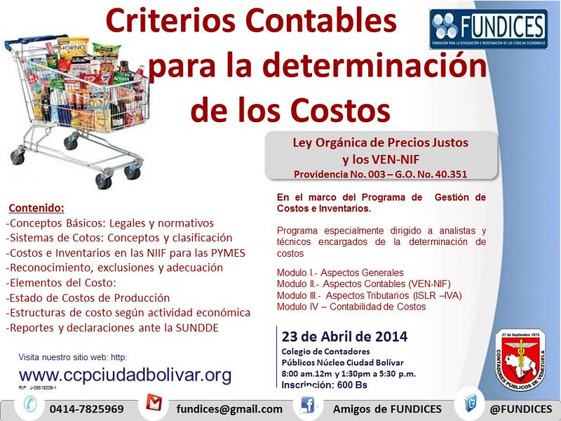 Taller Criterios Contables para determinación de Costos