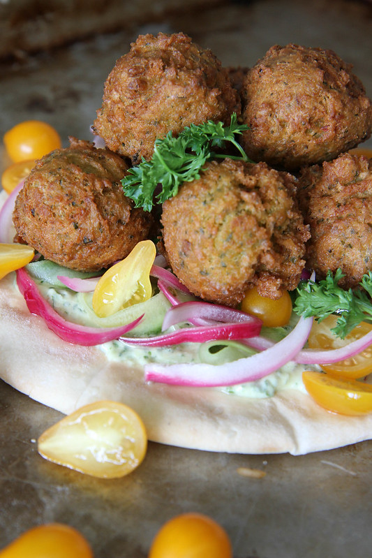 Crispy Green Onion Falafel