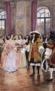 Louis XIV receiving the girls to be sent to Canada / Louis XIV accueille les filles qui seront envoyées au Canada