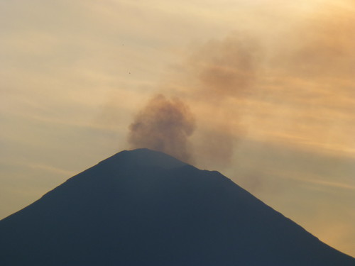 Smoking Popocatepetl Volcano