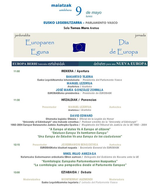 #DiaDeEuropa #EuroparenEguna #ParlamentoVasco