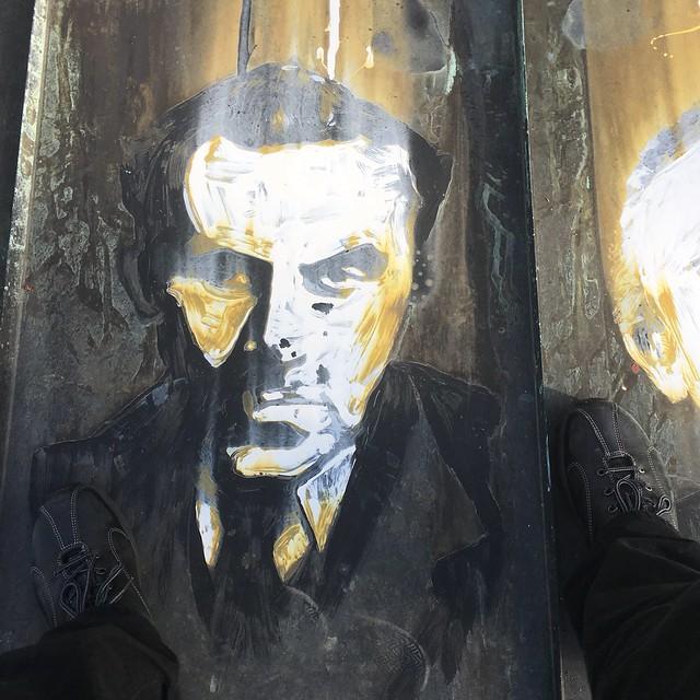 Louis-Ferdinand Céline, painted portrait IMG_0136