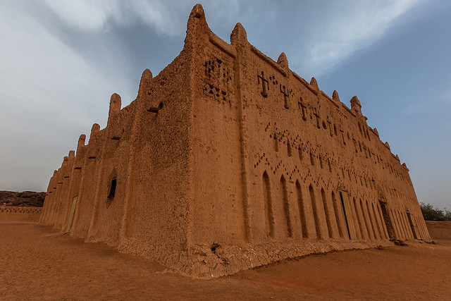 the great mud mosque in bani in northern Burkina Faso, Sahel